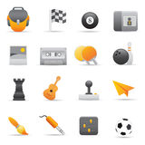 Entertainment Icons | Yellow 02. Professional set for your website, application, or presentation Royalty Free Stock Images