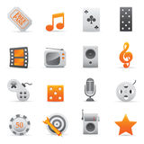 Entertainment Icons | Yellow 03 Stock Images