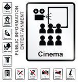 Entertainment Information Signs Stock Photography