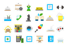 Entertainment isolated  icons  set Royalty Free Stock Photos