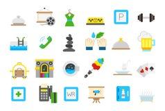 Entertainment isolated  icons  set. Set of 24 entertainment isolated  icons Royalty Free Stock Photos
