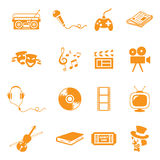 Entertainment. /leisure icons. Gradient free and easy to change colour Stock Photography
