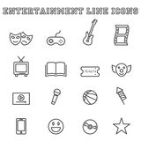 Entertainment line icons Stock Images