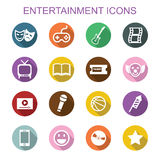 Entertainment long shadow icons Royalty Free Stock Image