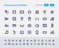 Entertainment & Media - Ants Icons. A set of 28 professional, pixel-perfect vector icons designed on a 32x32 pixel grid and redesigned on a 16x16 pixel grid for Stock Photography