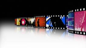 Entertainment Movie Film Strip 2 stock video footage