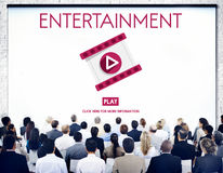 Entertainment Multimedia Technology Amusement Concept Royalty Free Stock Photo