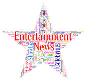 Entertainment News Represents Journalism Performance And Enterta Stock Photo
