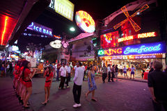 Entertainment in night Pattaya Stock Images