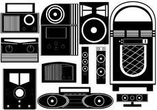 Entertainment objects Stock Image