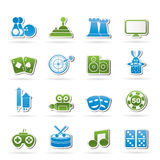 Entertainment objects icons Royalty Free Stock Image