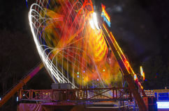 Entertainment park attraction at night Stock Image