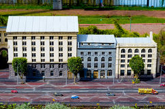 Entertainment Park Ukraine in Miniature .Small scale Ukraine. Royalty Free Stock Image