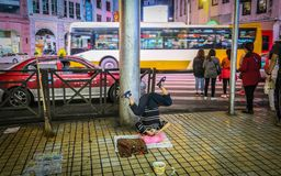 Entertainment down town Guangzhou, China stock photo