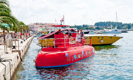 Entertainment  red mini submarine Royalty Free Stock Photo