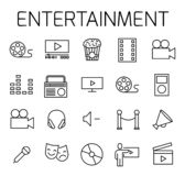 Entertainment related vector icon set. stock illustration