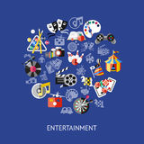 Entertainment Round Composition Royalty Free Stock Photos