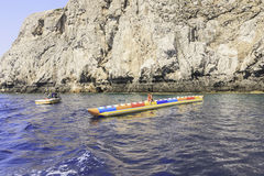 Entertainment at sea: banana. Rhodes Island. Greece Stock Image