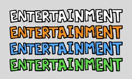 Entertainment symbol design Stock Photos