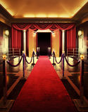 Entertainment theater with red carpet entrance Stock Photos