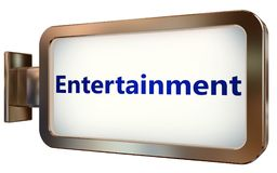 Entertainment on billboard background. Entertainment wall light box billboard background , isolated on white Royalty Free Stock Images