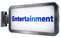 Entertainment on billboard background. Entertainment wall light box billboard background , isolated on white Royalty Free Stock Photos