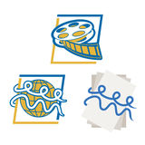 Entertainment World. Logo concepts showing the world full of entertainment Royalty Free Stock Photo