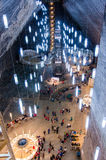 Entertainment zone in the salt mine Turda, Cluj, R Royalty Free Stock Images