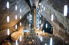 Entertainment zone in the salt mine Turda, Cluj, R Royalty Free Stock Photo