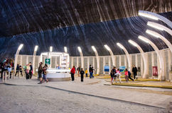 Entertainment zone in the salt mine Turda, Cluj, R Stock Images