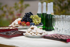 Entertainments on a table Royalty Free Stock Photo