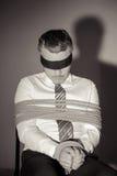 Entführter Geschäftsmann. Stockfotografie