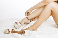 Entfernen Sie Schuhe Stockfotografie
