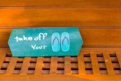 Entfernen Sie youe Schuhe Lizenzfreie Stockbilder
