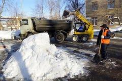 Entfernt Schnee Lizenzfreies Stockfoto