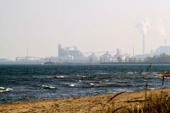 Entfernte Ansicht des Industriegebiets von Michigan-Stadt, Indiana lizenzfreie stockbilder