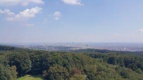 Entfernte Ansicht von Wien Stockfotos