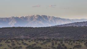 Entfernte Berge in Spanien Stockfotos