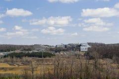 Entferntes Steinbruch-Panorama Lizenzfreies Stockfoto