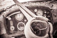 Entfernungsmesser verlassene Fabrik Stockfoto