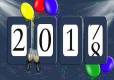 Entfernungsmesserzeichen 2018 des neuen Jahres Lizenzfreies Stockfoto