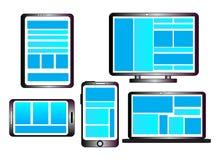 Entgegenkommende Web-Auslegung Stockbilder
