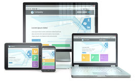Entgegenkommende Web-Auslegung Lizenzfreie Stockbilder