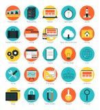 Entgegenkommende Webdesignikonen eingestellt Stockfoto