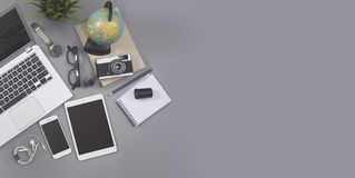 Entgegenkommender webdesign Schreibtisch-Heldtitel Lizenzfreie Stockfotografie