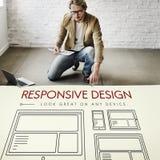 Entgegenkommendes Entwurf-Webseiten-Schablonen-Konzept Lizenzfreies Stockbild