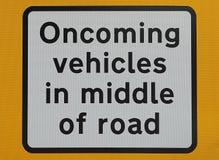 Entgegenkommendes Fahrzeugzeichen Lizenzfreie Stockbilder
