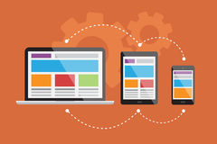 Entgegenkommendes Netz design4 Lizenzfreie Stockbilder