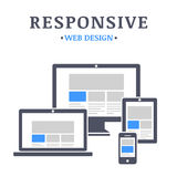 Entgegenkommendes Webdesign lizenzfreie abbildung