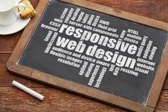 Entgegenkommendes Webdesign lizenzfreie stockfotos